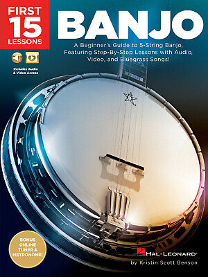 First 15 Lessons - Banjo A Beginner's Guide, Featuring Step-By-Step Lessons With • 8.75£