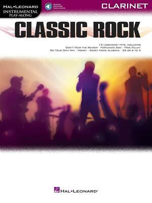 Classic Rock Instrumental Play-Along for Clarinet Clarinet  Book with Audio-Onli