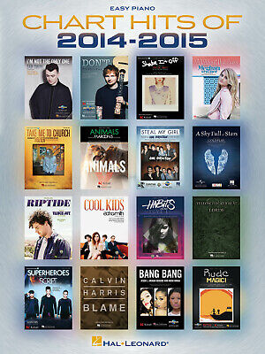 Chart Hits Of 2014-2015  Easy Piano  Book Only HL00142549 • 11.75£