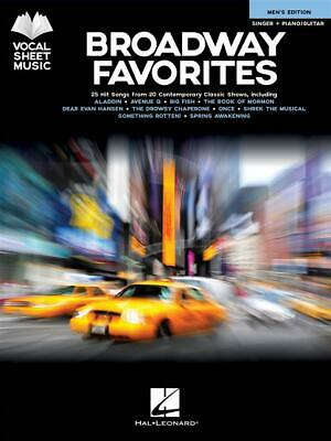 Broadway Favorites - Men's Edition 25 Hit Songs from 20 Contemporary Classic Sho