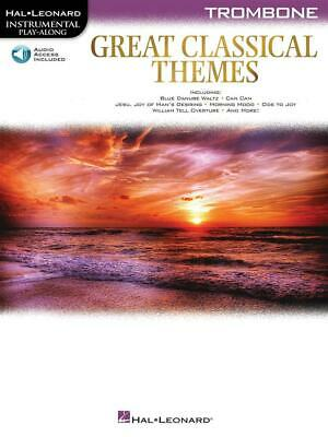 Great Classical Themes Trombone Trombone  Book With Audio-Online HL00292735 • 10.70£