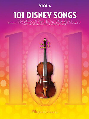 101 Disney Songs For Viola Viola  Book Only HL00244125 • 13.50£