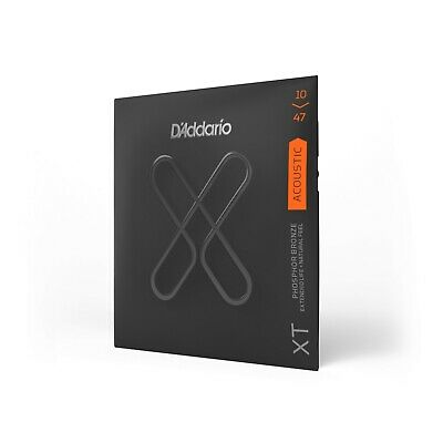 D'Addario XTAPB1047 Acoustic Guitar Strings, Phosphor Bronze Ex Light 10-47 • 14.95£