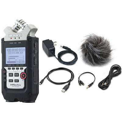 Zoom H4n Pro 4-Channel Handy Recorder W/ Zoom APH-4nPro Accessory Pack Bundle • 194.26£