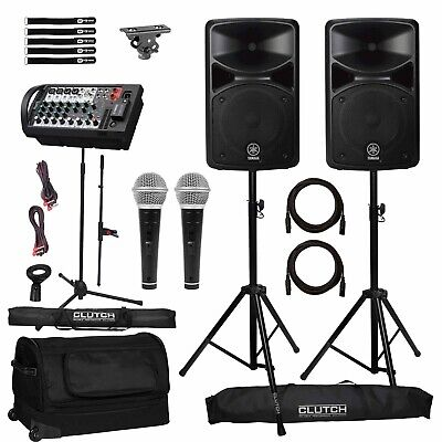 Yamaha STAGEPAS 400BT Portable DJ PA Speaker System W Bluetooth, Covers Pack • 662.40£