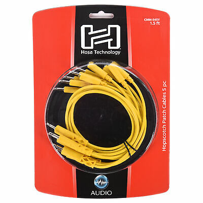 Hosa Hopscotch Patch Cables 3.5 Mm TS With TSF Pigtail To TS 5pc 1.5ft • 19.11£