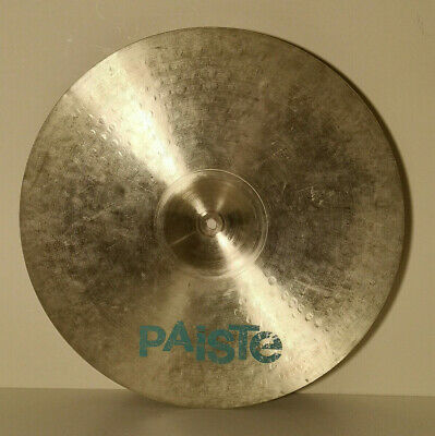 1980's PAISTE 101 20  Ride Cymbal With Light Blue Logo For Drum Kit • 39.99£