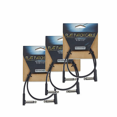 RockGear RockBoard Flat Patch Cable Black 45 Cm (17.72 ) 3 Pack Bundle • 14.33£
