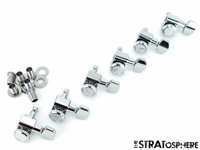 Fender Strat Tele LOCKING  F  Logo TUNERS Guitar The Edge Stratocaster Guitar • 37.96£