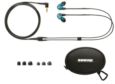 Shure SE215SPE-B-UNI-EFS Special Edition Sound Isolating Earphones, Blue • 349.99£