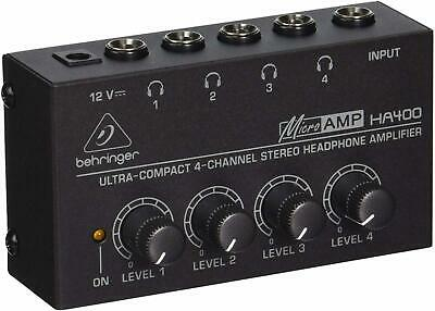 Microamp 4 Channel Stereo Amplifier Use With All Types Headphone High Quality • 21.87£