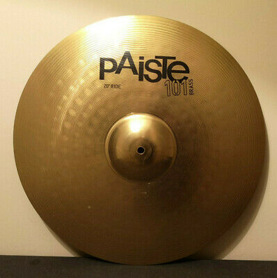 PAISTE 101 Brass Black Logo 20  Ride Cymbal For Drum Kit • 38.99£