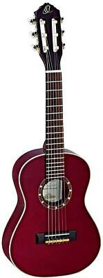 Ortega R121-1/4 WR Wine Red 1/4 Size 6 String Classical Guitar - Blem #XZ91 • 113.02£
