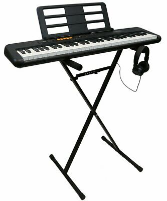 Casio CT-S100AD 61 Key Full Size Keyboard, Stand And Headphones Bundle • 100£
