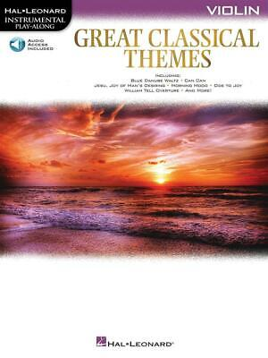 Great Classical Themes Violin Violin  Book With Audio-Online HL00292736 • 10.70£