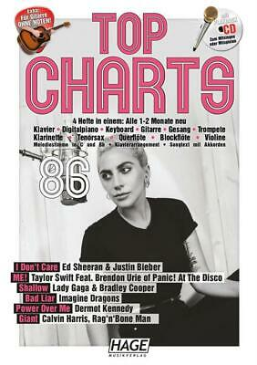 Top Charts 86 & CD  Piano, Vocal and Guitar  Book with CD EH3979