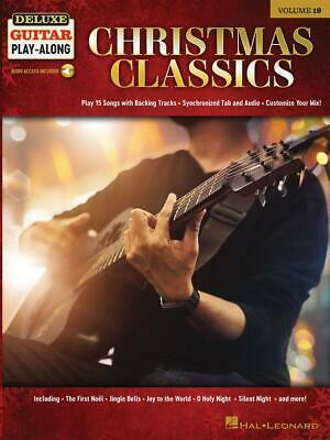 Christmas Classics Deluxe Guitar Play-Along Volume 19 Guitar  Book with Audio-On