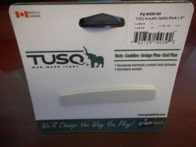 NEW - Graph Tech TUSQ 1/8  Acoustic Saddle Blank - PQ-9000-00 • 9.34£