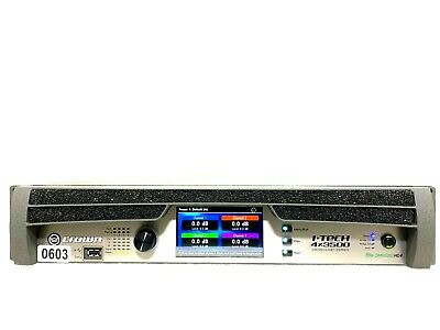 Crown I-tech 4x3500 Hd With Binding Post Version Power Amp #0603 (one) • 3,444.45£