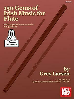 150 Gems Of Irish Music For Flute  Flute Grey Larsen Book With Audio-Online MB98 • 20.99£
