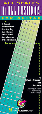 All Scales In All Positions For Guitar Lessons Tab Hal Leonard Book • 8.01£