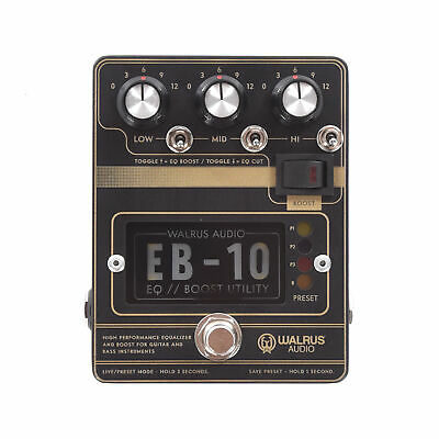 Walrus Audio EB-10 Preamp/EQ/Boost Black • 172.25£