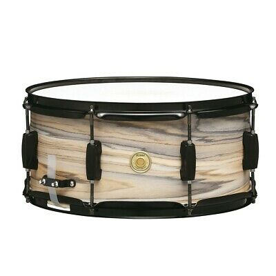 Tama WP1465BK-NZW Woodworks 14  X 6.5  Snare Drum, Natural Zebrawood Wrap • 88.99£