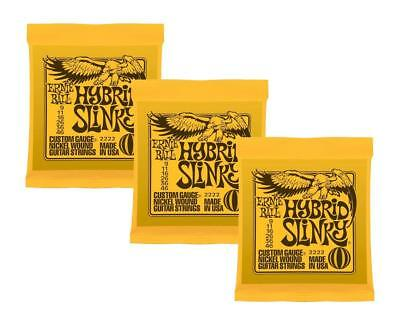 Ernie Ball 2222 Nickel Hybrid Slinky Orange Electric Guitar Strings 3 Pack (S... • 19.59£