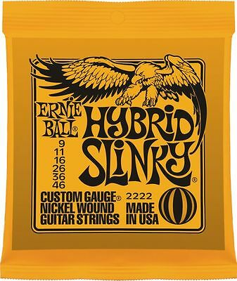 Ernie Ball 'Hybrid Slinky' Electric Guitar Strings 9 - 46. P/n 2222 • 6.65£