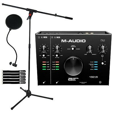 M-Audio Air 192|8 USB MIDI Home Audio Recording Interface W Software & Mic Stand • 159.43£