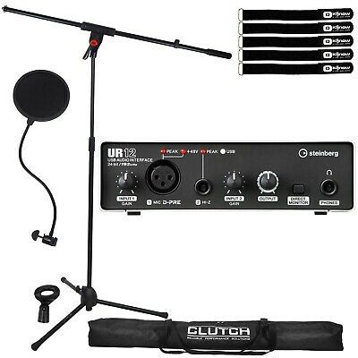 Steinberg UR12 2x2 USB 2.0 Home Recording Audio Interface W Mic Stand & Filter • 112.19£