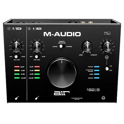 M-Audio AIR 192 | 8 2-In/4-Out 24/192 Audio Recording MIDI Interface • 152.48£