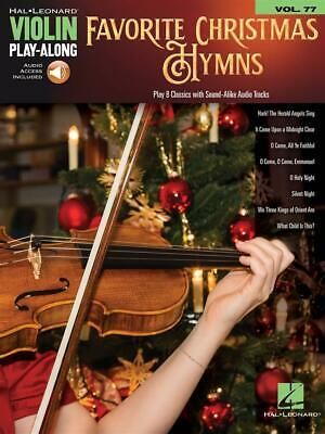 Favorite Christmas Hymns Violin Play-Along Volume 77 Violin  Book with Audio-Onl