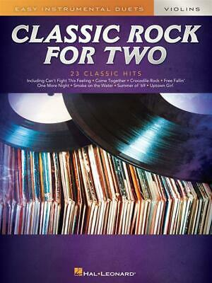 Classic Rock for Two Violins Easy Instrumental Duets 2 Violins  Book Only HL0030