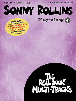 Sonny Rollins Play-Along Real Book Multi-Tracks Volume 6 C-, B Flat - or E Flat