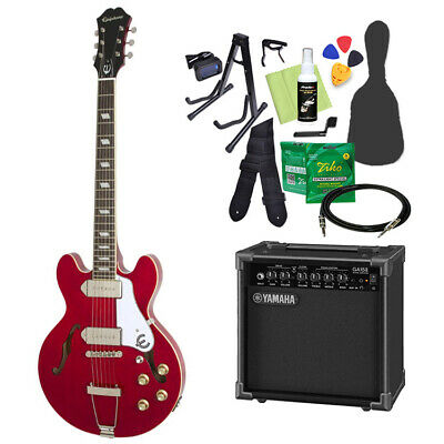 Epiphone Casino Coupe Cherry Electric Guitar Beginner 14-Piece Set With Yamaha • 1,039.76£