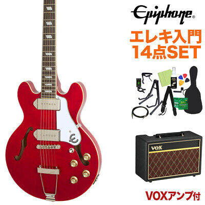 Epiphone Casino Coupe Cherry Electric Guitar Beginner 14-Piece Set With Vox • 1,039.33£