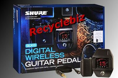 Shure GLXD16 Wireless Bodypack Guitar Pedal System Z2 Digital Free US 48 Ship! • 299.32£