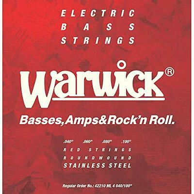 Warwick Electric Bass Strings 4-String Set Stainless 42210 Red Medium Light • 254.59£