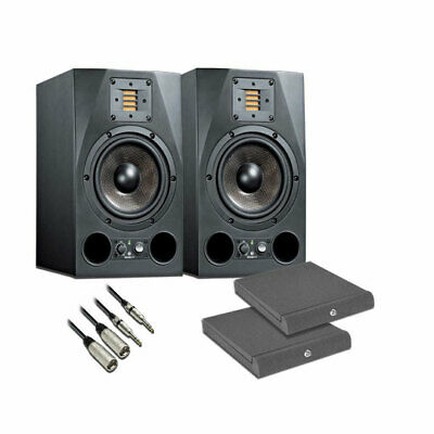 ADAM A7X 2-Way 7  Woofer Nearfield Monitor (Pair) + Adam Hall Isolation Pads + 2 • 910.32£