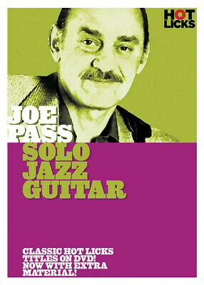 Joe Pass Solo Jazz Guitar Lessons Learn To Play Music Hot Licks Video DVD • 18.25£