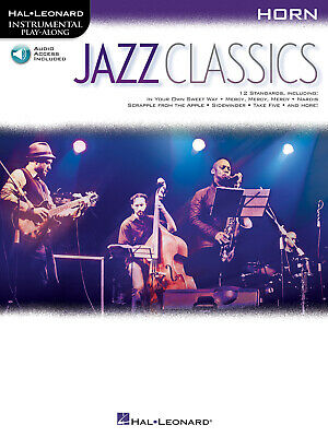Jazz Classics For Horn Solo Sheet Music 12 Songs Play-Along Book Online Audio • 9.20£