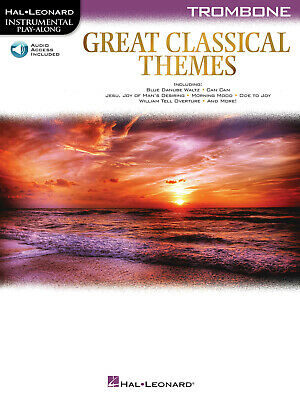 Great Classical Themes Trombone Solo Sheet Music Play-Along Book Online Audio • 9.41£