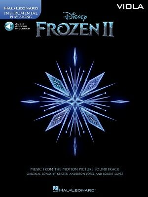 Frozen 2 Disney Movie For Viola Solo Sheet Music 8 Songs Play-Along Book & Audio • 10.85£