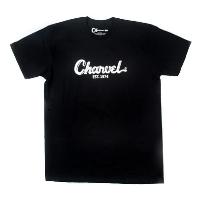 Charvel Guitars Toothpaste Logo Tee T-Shirt In Black -  Large - #0998727706 • 11.55£