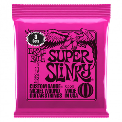 Ernie Ball 3 Pack  Electric Guitar Strings • 19.99£
