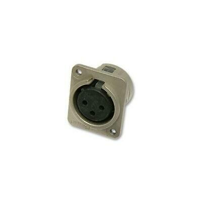 Neutrik - Nc3fdm3l1 - Xlr Socket, 3 Pole, Chassis, M3 Fixing, Unified • 10.59£