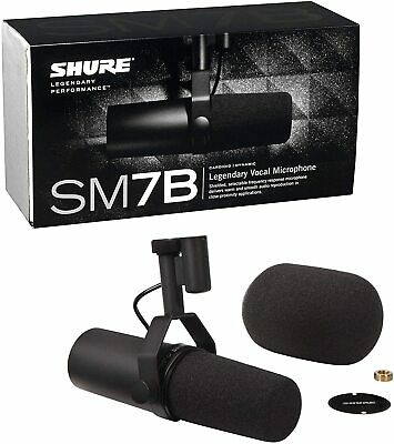 Shure SM7B Professional Cardioid Dynamic Studio Vocal Microphone  - Brand New • 346.50£