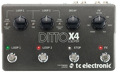 Tc Electronic Ditto X4 Dual Track Looper Guitar Pedal TC143 • 258£
