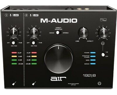 M-Audio AIR 192|8 - 2-In/4-Out USB Audio / MIDI Interface  + Recording Software • 139£